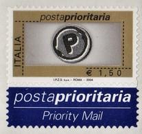 ITALIA REPUBBLICA 2004 PRIORITARIO € 1,50 MNH STAMPA TIPOGRAFICA  SASSONE N. 2734 - 2001-10:  Nuevos