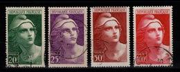 YV 730 à 733 Obliteres Marianne De Gandon Grand Format Cote 12,50 Euros - Used Stamps
