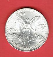MEXIQUE 1985 PLATA PURA 1 ONZA 31.10 GRAMMES ARGENT 1 ONCE 999 POUR 1000 MEXICO ESTADOS UNIDOS MEXICANOS - Mexico