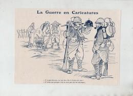 La Guerre En Caricatures 1916 Soldats Français Casque Allemand Héroique - 1914-18