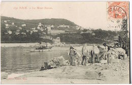 NICE- Le Mont-Boron - Le Port - Dockers Chargement En Plein Travail - Circulée 1910- Scans Recto Verso - Old Professions