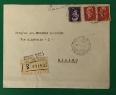1946 ROVIGO RACCOMANDATA PER MILANO - Marcophilie