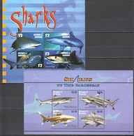 M847 ANTIGUA & BARBUDA FISH & MARINE LIFE SHARKS OF THE CARIBBEAN 2KB MNH - Marine Life