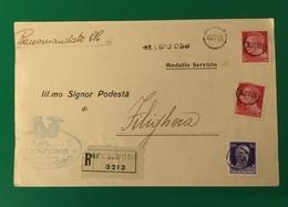 1935 BELGIOIOSO RACCOMANDATA PER FILIGHERA - Storia Postale