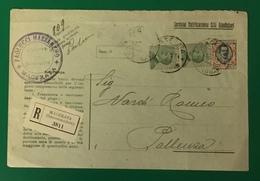 1925 MACERATA RACCOMANDATA PER POLLENZA - Storia Postale
