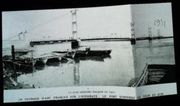 Deir Ez-Zor (SYRIE)  Pont Français Suspendu   -  Coupure De Presse (encadré Photo) De 1931 - Obras Públicas