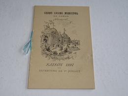 """ROYAN PETIT LIVRET ILLUSTREE DU """" GRAND CASINO DE ROYAN """" SAISON 1897 OUVERTURE LE 1er JUILLET -17 CHARENTE MARITIME(CL) - Royan"""