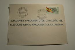 ESPAÑA 1980 - SOBRE LISTA DE CORREOS DE TERRASSA PARA LAS ELECCIONES AL PARLAMENT DE CATALUNYA - Variétés & Curiosités