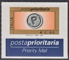 ITALIA REPUBBLICA 2006 PRIORITARIO € 0,60  MNH STAMPA ROTOCALCO  SASSONE N. 2893A - 2001-10:  Nuevos