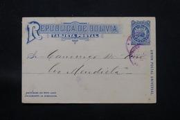 BOLIVIE - Entier Postal De  Cochabamba Voyagé En 1892 - L 59833 - Bolivia