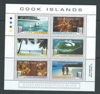 Cook Islands 1997 South Pacific Forum Overprints On Raratonga Scenes Sheet Of 6 MNH - Cook Islands