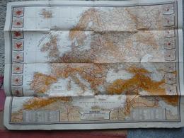 VIEUX PAPIERS - CARTE DE L'EUROPE PHYSIQUE ET POLITIQUE EN 1930 ET 1943 : Dressé Et édité Par Edmond PAILLARD - Geographical Maps
