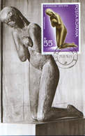 Romania - Maximum Postcard,maxicard 1976 - Art Museum - C.Brancusi - Prayer - Beeldhouwkunst