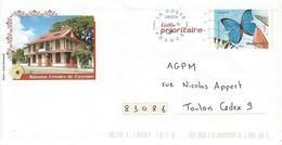 Lettre Entier Postal.  Maisons Créoles De Cayenne Prêt à Poster  Morpho Bleu - Listos A Ser Enviados: Otros (1995-...)