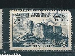 N°  378 Tabarka, Le Fort Génois Timbre Tunisie 1954 Oblitéré - Tunisia (1956-...)