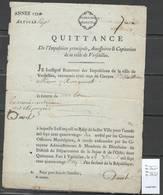 France - Quittances De Capitation - Frais De Garnison - 1783 - 1789 - 2 Piéces - Historische Dokumente