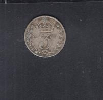 UK Three Pence 1909 - 1902-1971: Postviktorianische Münzen