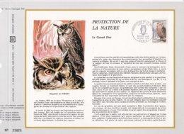 Feuillet Tirage Limité CEF 195 Protection De La Nature Oiseau Rapace Hibon Grand Duc - Sheetlets