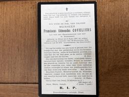 Coveliers Franciscus Edmondus *1851 Geel +1916 Geel Lid Broederschap Van Het H. Sacrament - Esquela