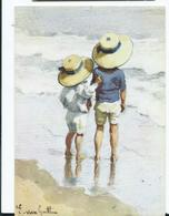 Postcard Children Artist Signed E.van Goethem Unused Large Format Card - Szenen & Landschaften