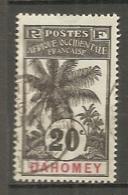 Dahom  - Yt.  N° 23  (o)  20c    Palmier  Cote  16  Euro BE   2 Scans - Dahome (1899-1944)