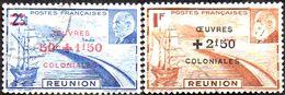 Réunion Obl. N° 249 Et 250 - Surchargés - Rade De Saint-Denis Et Maréchal Pétain - Réunion (1852-1975)