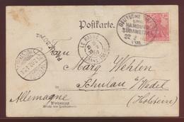 Schiffspost XXII Hamburg Südamerika Via Le Havre Frankreich Wedel Nach Schulau  - Briefmarken