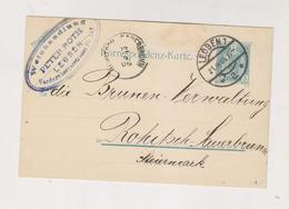 AUSTRIA,1906 LEOBEN,  Postal Stationery - Brieven En Documenten