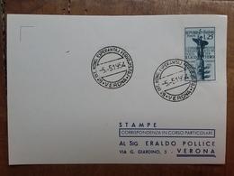 REPUBBLICA - Marcofilia - Centenario Internazionale Di Esperanto Verona 1954 + Spese Postali - F.D.C.