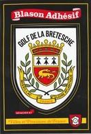 CPSM 44 GOLF DE LA BRETESCHE MISSILLAC  BLASON ADHESIF - Missillac