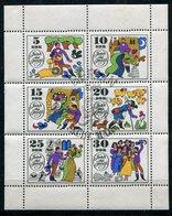 DDR Michel-Nr. 1450-1455 Kleinbogen Vollstempel - Blocchi