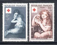 1954 - CROIX ROUGE YT 1006 ET 1007 NEUF * AVEC CHARNIERE COTE 18 € - France
