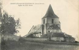 CPA 79 Deux-Sèvres St Saint Léger De Montbrun Eglise Du XIIe Siècle - Altri Comuni