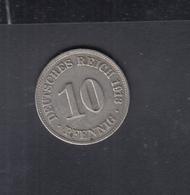 Dt. Reich 10 Pfennig 1913 D - [ 2] 1871-1918: Deutsches Kaiserreich