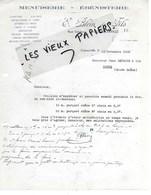 88 - Vosges - CONTREXEVILLE - Facture BLEIN - Menuiserie, ébénisterie - 1938 - REF 149A - 1900 – 1949