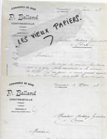 88 - Vosges - CONTREXEVILLE - Facture BALLAND - Commerce De Bois - 1938 - REF 149A - 1900 – 1949