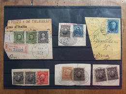 STATI UNITI - 13 Francobolli Inizio '900 - Timbrati Su Frammento + Spese Postali - Verenigde Staten