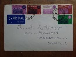 AUSTRALIA 1971 - Lettera Spedita In Somalia - Con Annullo Arrivo + Spese Postali - 1966-79 Elizabeth II