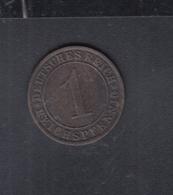 Dt. Reich 1 Pfennig 1930 - [ 3] 1918-1933: Weimarer Republik