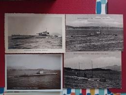SOUS-MARINS - SURCOUF - PHOQUE -  JOESSEL  -JEAN AUTRIC -  5 CARTES - Sous-marins