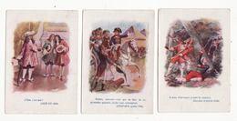 Chromo  DROGUERIE MAGNIN  à Besançon    Lot De 3    Bonaparte, Louis XIV, Chevalier D'Assas     10.8 X 7.5 Cm - Altri