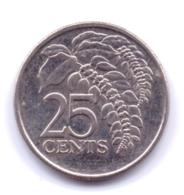 TRINIDAD & TOBAGO 2007: 25 Cents, KM 32 - Trinité & Tobago
