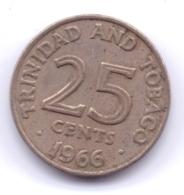 TRINIDAD & TOBAGO 1966: 25 Cents, KM 4 - Trinité & Tobago