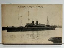 33 - BORDEAUX - LE PAQUEBOT MARRAKECH DE LA COMPAGNIE GENERALE TRANSATLANTIQUE - CB 194 - 1931 - Dampfer