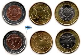 Botswana - 1-2 & 5 Pula 2013 (UNC) - Botswana