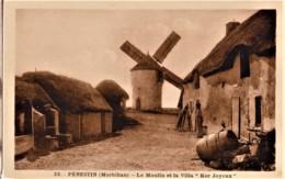 """PENESTIN - Le Moulin Et La Villa """"Ker Joyeux"""" - FERME, PUITS, BARRIQUE - CPA TBon Etat (voir Scan) - Pénestin"""