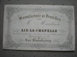 AKEN - AIX LA CHAPELLE - MANUFACTURE DE DENTELLE M. MAUBACH - CARTE PORCELAINE 10.5 X 6.5 - Aachen