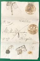 1836 ANCONA SANITA' VARI BOLLI PER SENIGALLIA - ...-1850 Préphilatélie
