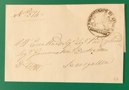 SENIGALLIA SANITA' PER SENIGALLIA - ...-1850 Préphilatélie