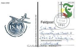ISAF NATO 2002 Feldpost 1391 Termes Uzbekistan Air Force Luftwaffe German FPO Feldpost Peacekeeping Military Postcard - Militaria